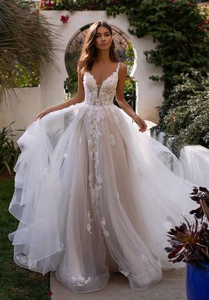 Moonlight Couture H1394 Ball Gown Wedding Dress