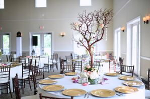 Manzanita Branch Centerpieces With Roses and Crystals