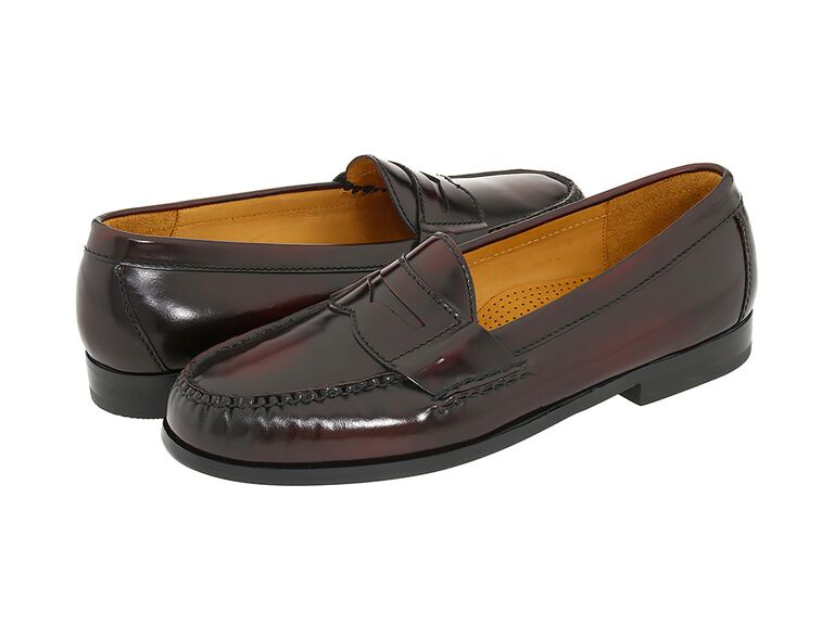 Cole Haan Pinch Penny Loafer in Burgundy black suit brown shoes