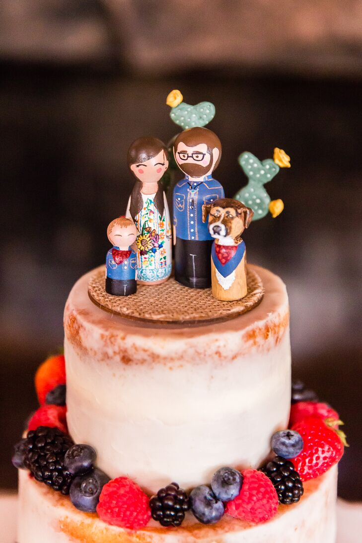 Hand-Painted Wood Figure Cake Topper