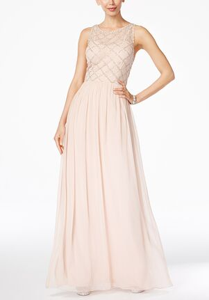 Adrianna Papell Adrianna Papell Beaded A-Line Gown Illusion Bridesmaid Dress