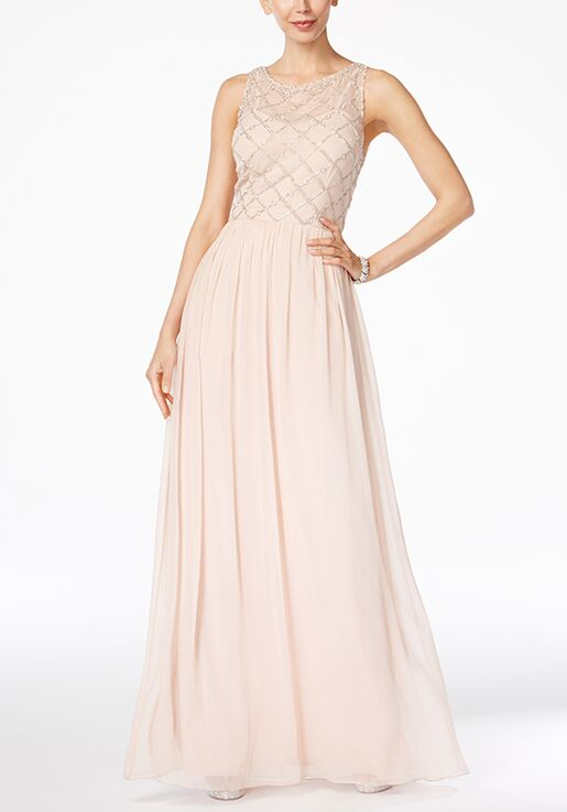Adrianna Papell Adrianna Papell Beaded A Line Gown Bridesmaid Dress