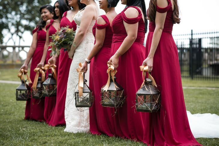 Lantern Bridesmaid Bouquet Alternatives for New York Wedding
