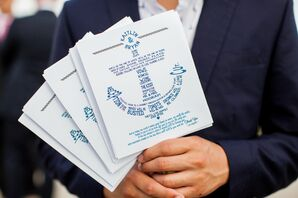 Anchor-Inspired Beach Ceremony Programs