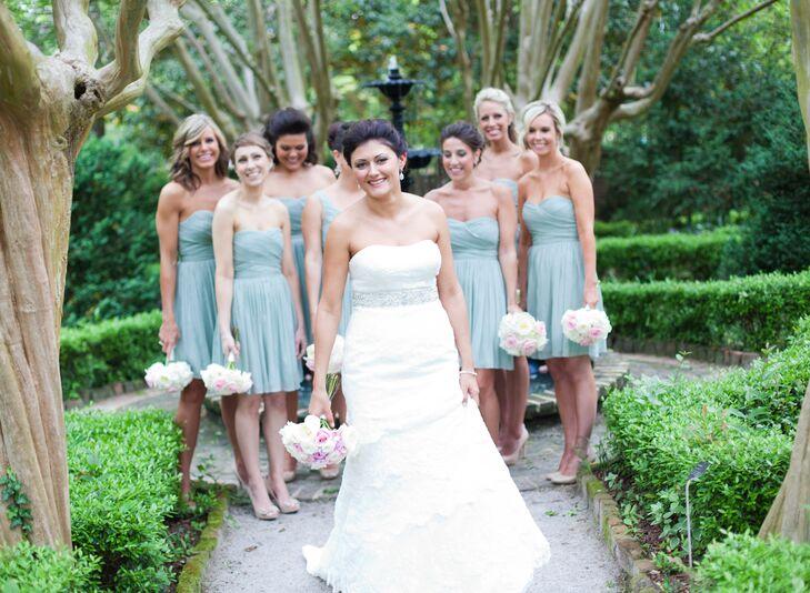 Short Sage J.Crew Bridesmaid Dresses