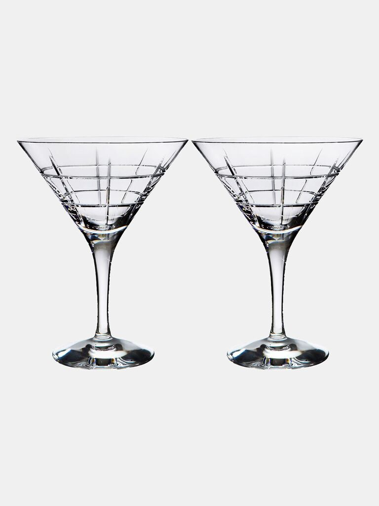 Crystal martini glasses gift idea for father-in-law