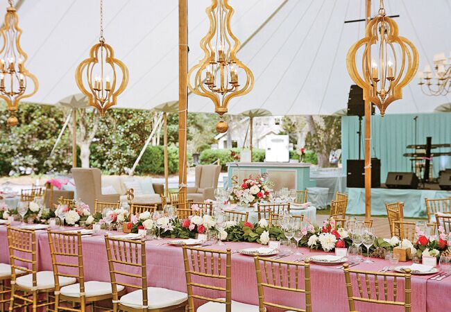 Gold Moroccan Style Chandeliers | A Bryan Photo | Blog.TheKnot.com