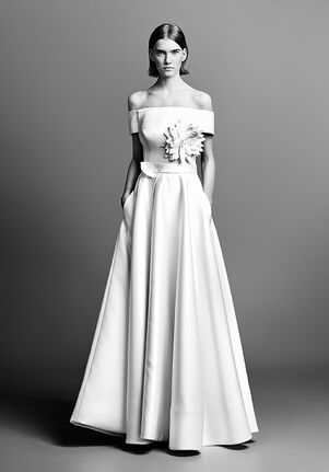 Viktor&Rolf Mariage OFF THE SHOULDER COUTURE FLOWER GOWN A-Line Wedding Dress