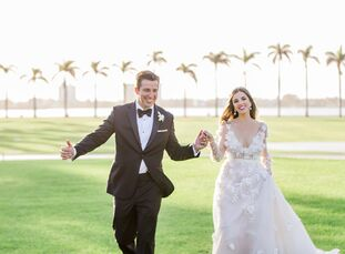 Carla Isaias and Daniel Benavides brought their glamorous wedding to life at Mar-a-Lago Club in Palm Beach, Florida. The sunset ceremony, which took p