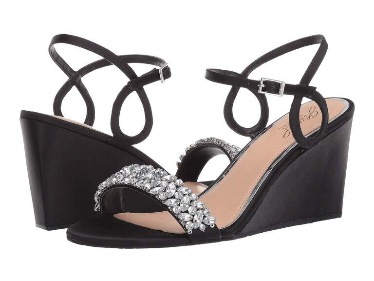 Jewel Badgley Mischka Noralie heels in Black