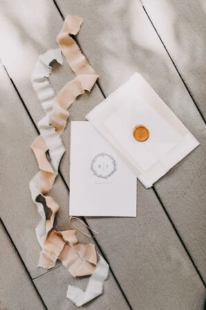 Romantic Invitations with Monogram and Seal