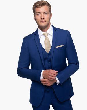 Generation Tux Bright Blue Notch Lapel Suit Blue Tuxedo