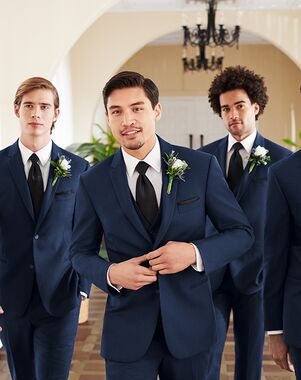 Navy Suit Wedding.Blue Wedding Tuxedos Suits The Knot