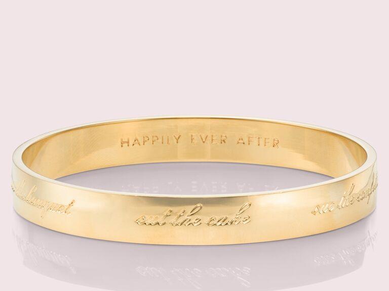 engraved gold bangle