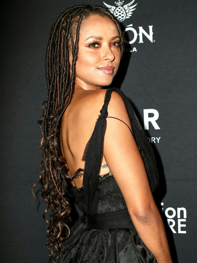 Kat Graham braids - Pretty Black Braided Hairstyles for Brides