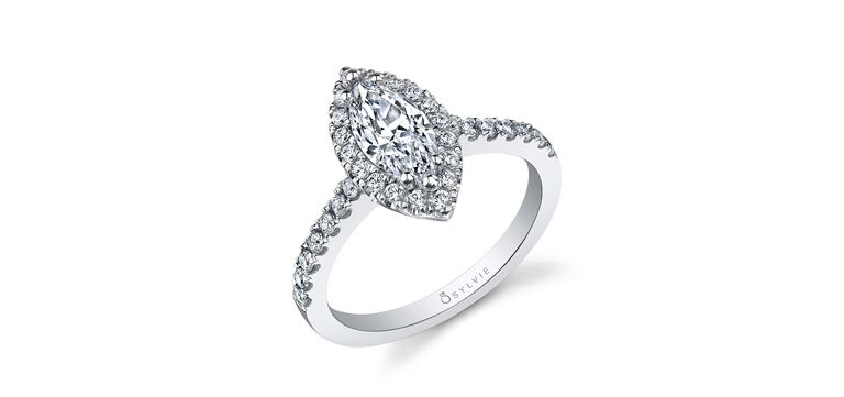 Classic Marquise Diamond Ring by Sylvie