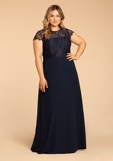 Hayley Paige Occasions W917 Illusion Bridesmaid Dress