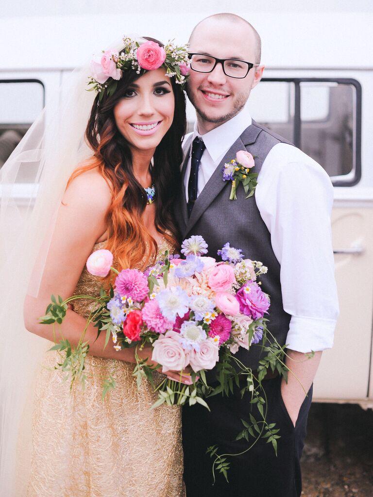 Gold wedding dress Pinterest trend 2019