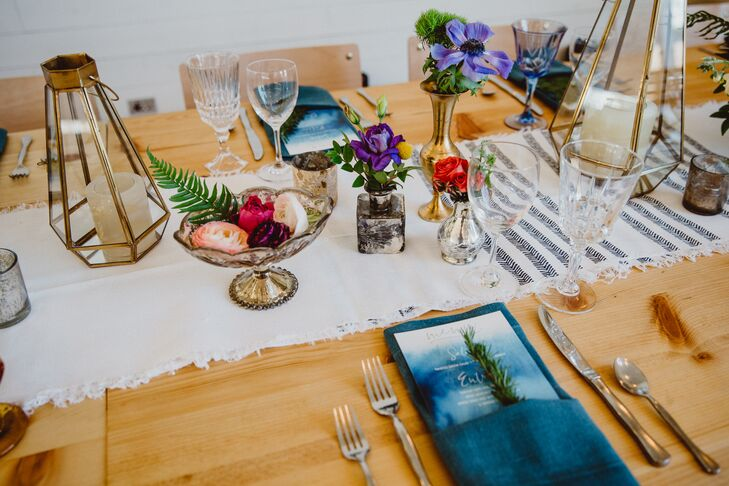 Bohemian Woven Linens and Vintage Vases