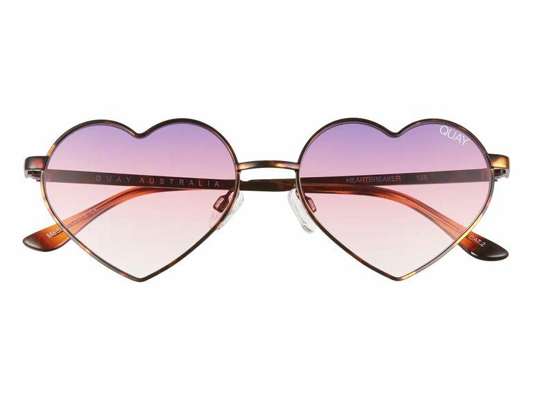 pink and purple heart shaped sunglasses