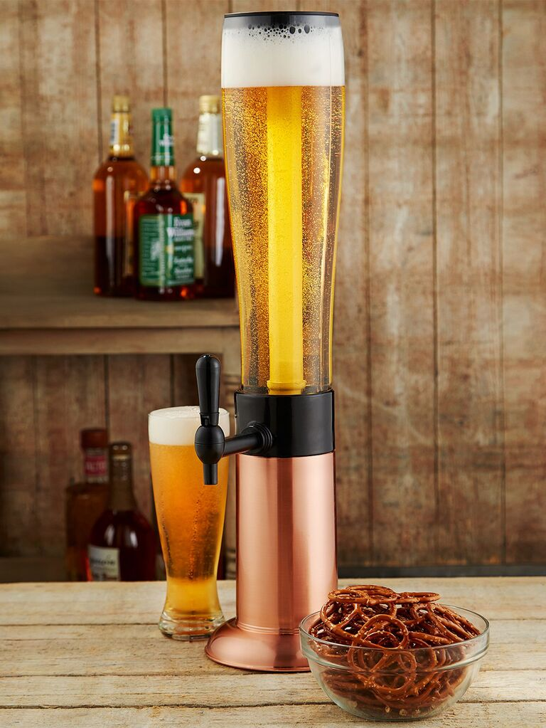 copper beverage tower 7th anniversary gift