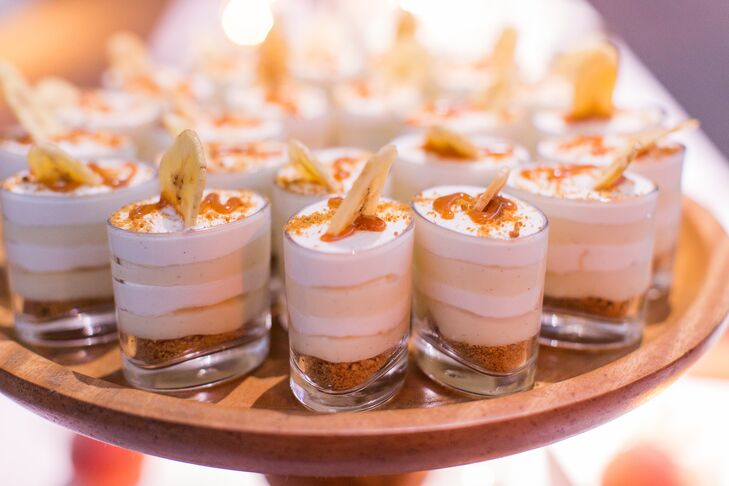 Guests were provided an array of desserts provided in handy single servings.