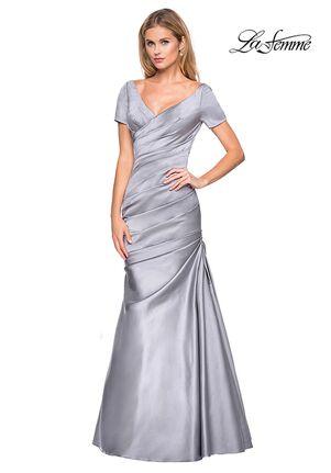 La Femme Evening 26947 Blue Mother Of The Bride Dress