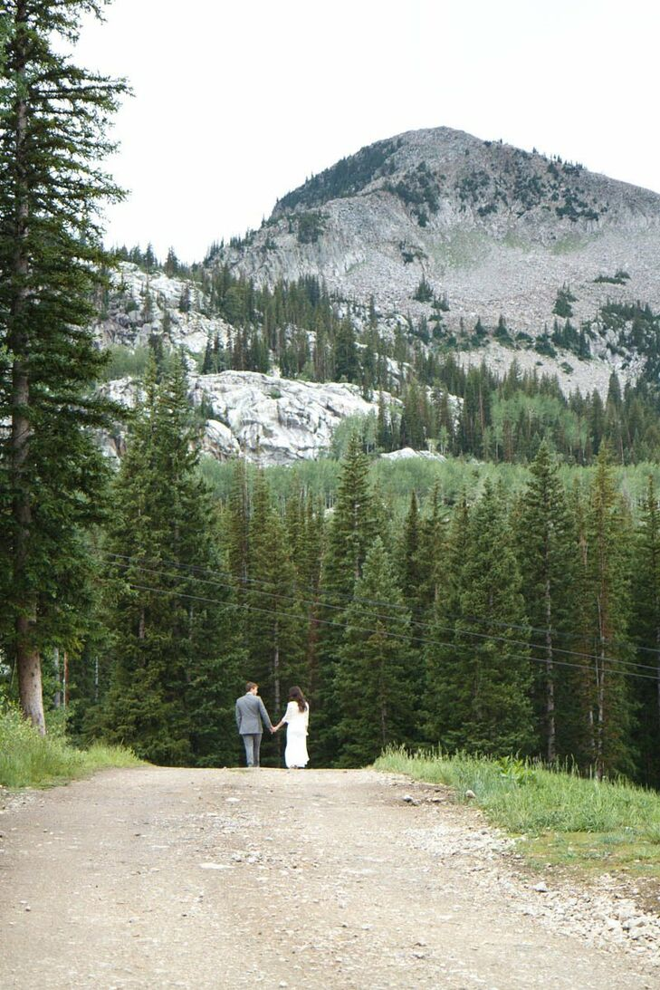 Between the ceremony and the reception, the couple took a moment to take pictures amongst the beautiful Utah scenery.
