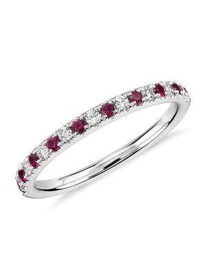 Blue Nile 54954 White Gold Wedding Ring