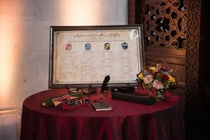 Harry Potter-Inspired Seating Chart at Hempstead House in New York