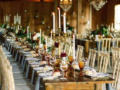 Simple wedding centerpieces with candles