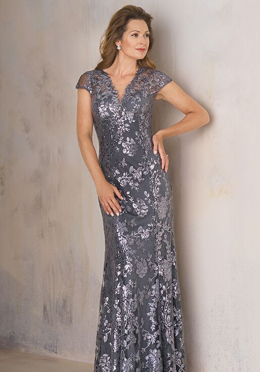 Jade Couture Mother of the Bride by Jasmine K208008 Silver Mother Of The Bride Dress