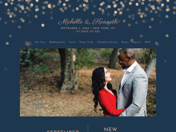 Elegant Glow Wedding Website Template, The Knot