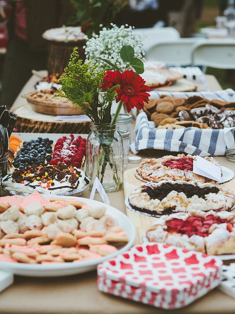 Pie Cookie And Tart Dessert Station For A Wedding Reception