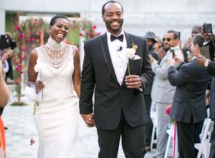 DzifaKpodzo, who is originally from Ghana but grew up in Los Angeles, wed Coalton Bennett, a California native, at Skirball Cultural Center. As a nod
