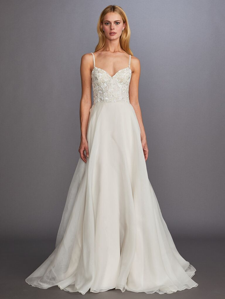 Allison Webb Fall 2019 Bridal Collection sweetheart wedding dress