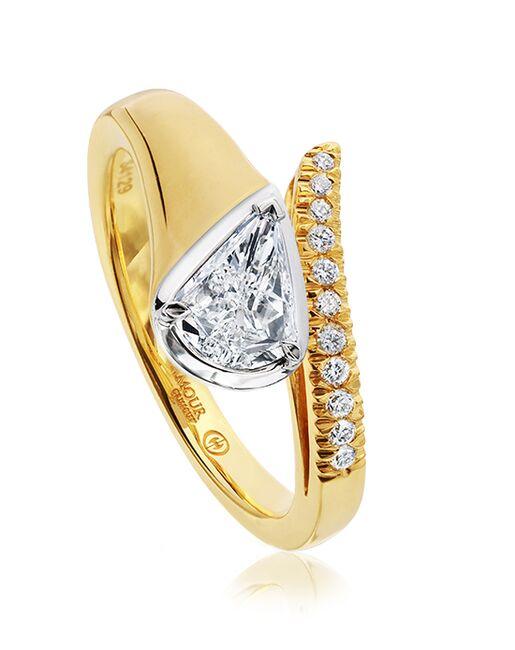 Christopher Designs Unique Pear Cut Engagement Ring
