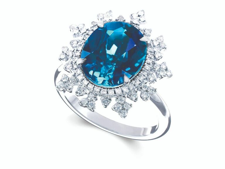 Nadine Asoy blue engagement ring