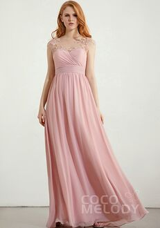 CocoMelody Bridesmaid Dresses RB0348 Bateau Bridesmaid Dress