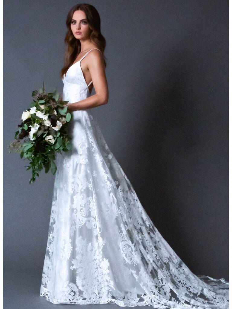 ROMONA New York RB026 A-line lace wedding dress