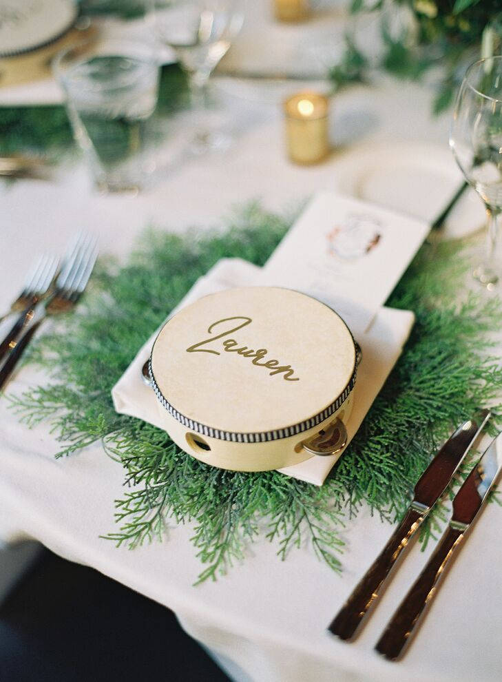 Place Setting with Calligraphed Tambourine