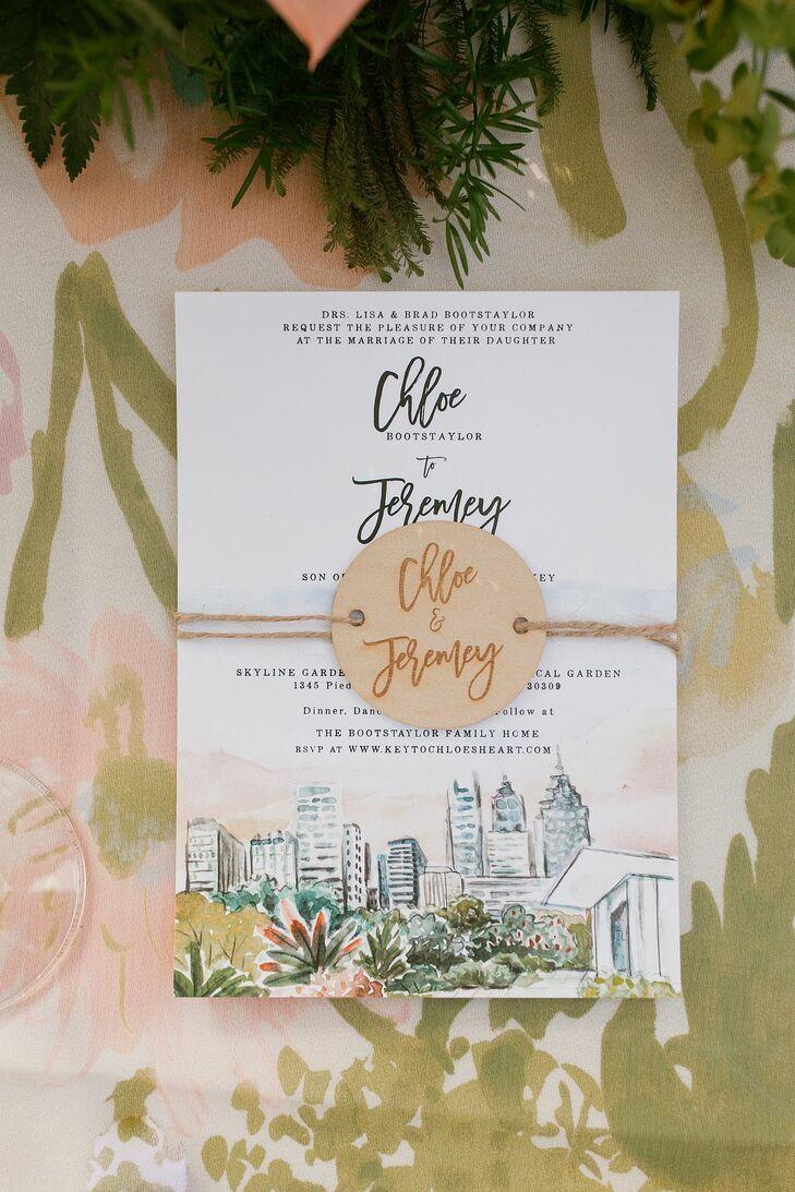 Invitations for Backyard Wedding in Atlanta, Georgia