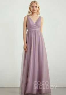 CocoMelody Bridesmaid Dresses RB0301 V-Neck Bridesmaid Dress