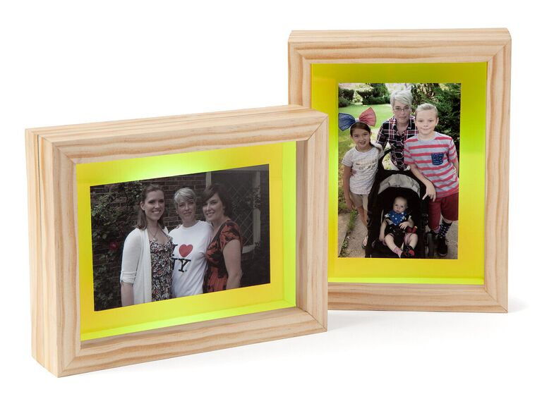Light-up touch picture frames gift idea