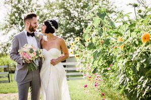 Ivory Strapless BHLDN Wedding Dress