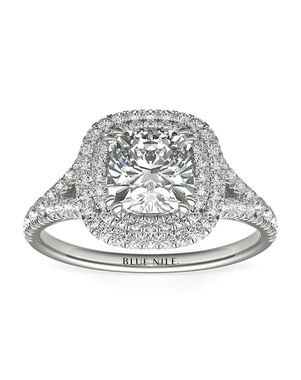 Blue Nile Cushion Cut Engagement Ring