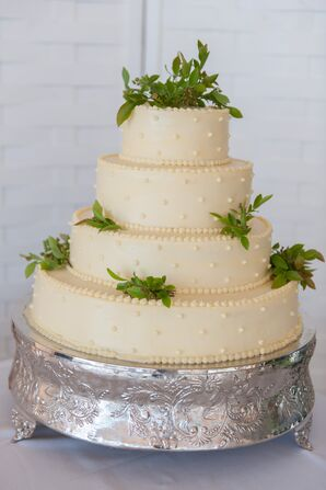Four-Tier Funfetti Wedding Cake