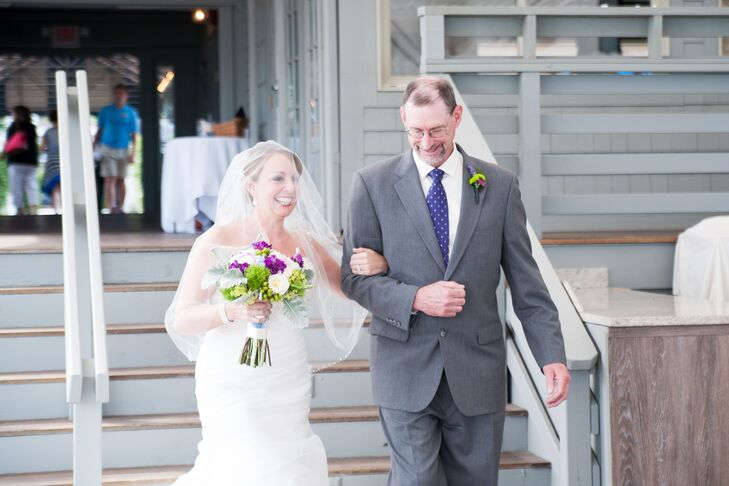 Bride and Her Uncle at Beach Processional