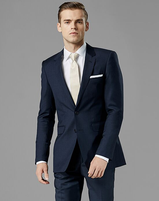 Generation Tux Navy Blue Notch Lapel Suit Wedding Tuxedo
