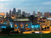 Kansas City missouri at night